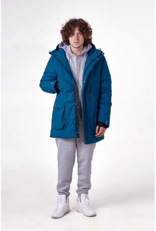"Winter parka ""Sailor Blue"""