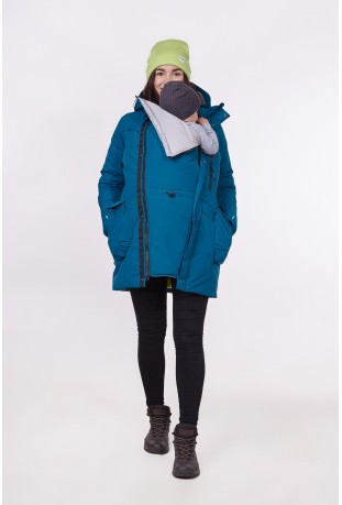 "Winter babywearing parka ""Sailor Blue"""