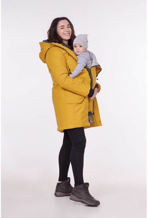 "Winter babywearing parka ""Curry"""