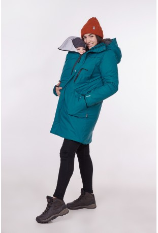 "Winter babywearing parka ""Deep Forest"""
