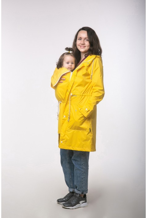 "Babywearing cloak raincoat ""Pirate Black"""