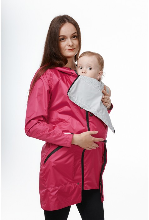 "Babywearing raincoat ""Red Rose"""